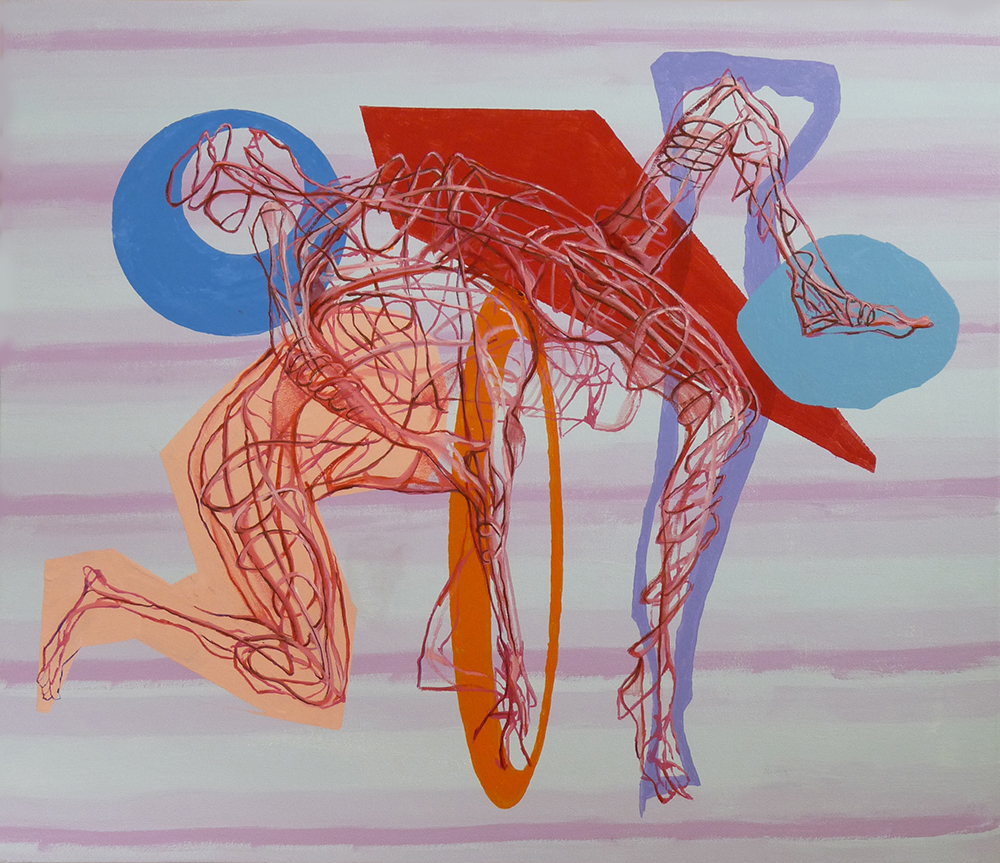 """Fight Geometry"" 26"" x 30"" acrylic on canvas"